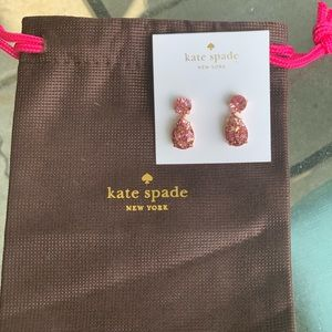 Kate Spade pink drop earrings!